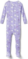 Space cat footed sleep one-piece