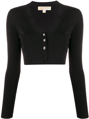 MICHAEL Michael Kors cropped V-neck cardigan