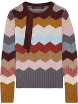 Marc Jacobs Intarsia Cashmere Sweater - Brown