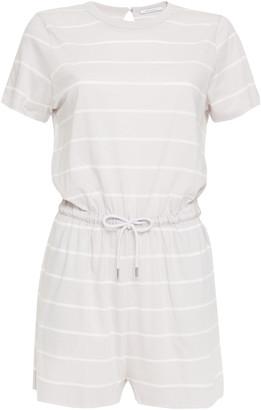 Ninety Percent Striped Organic Cotton-jersey Playsuit