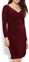 Lauren Ralph Lauren Ruched Jersey Sheath Dress (Plus Size)
