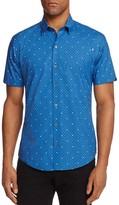 Zachary Prell Souza Medallion Dot Regular Fit Button-Down Shirt