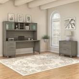 Ash Styer Desk with Hutch Ebern Designs Color Gray
