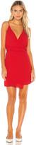 Krisa Twist Waist Surplice Mini Dress