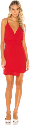 Krisa Twist Waist Surplice Mini Dress