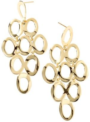 Ippolita Glamazon Sculptural Metal 18K Yellow Gold Open Cascade Earrings