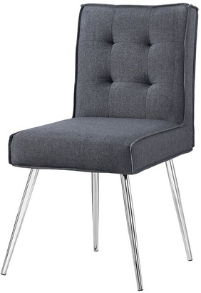 Linon Alisha Dark Grey Chair
