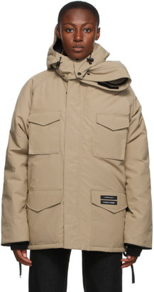 Y/Project SSENSE Exclusive Beige Canada Goose Edition Down Constable Parka
