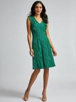 Dorothy Perkins Lace Ruffle Taylor Dress - Green