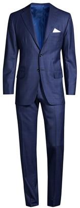 Kiton Windowpane Wool Suit