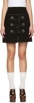 Carven Black Toggle Miniskirt