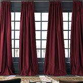Royal Velvet Grandeur Silk Rod-Pocket/Back-Tab Curtain Panel