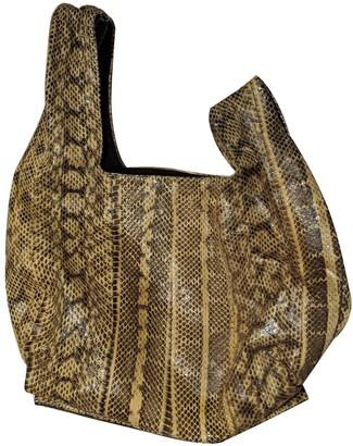 Alexander McQueen Yellow Python Handbags