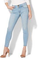 New York & Co. Soho Jeans - Power Shaper Ankle Jean - Snowflake Blue Wash
