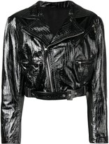 Versace Pre Owned 1990's leather jacket