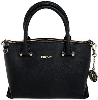 DKNY Black Saffiano Leather Small Dona Karan Tote