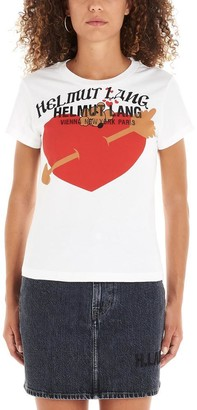 Helmut Lang Standard Baby Logo Print T-Shirt
