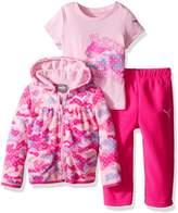 Puma Baby Girls' 3 Piece Hoodie, Tee, Pant Set