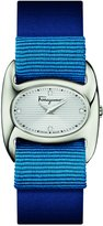 Salvatore Ferragamo Women's 'Varina' Swiss Quartz Stainless Steel and Leather Casual Watch, Color:Blue (Model: FIE150016)