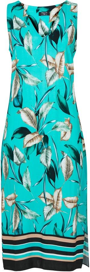 Wallis Blue Leaf Print Shift Dress