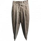 3.1 Phillip Lim Grey Leather Trousers