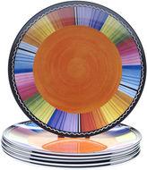 Certified International Serape Set of 6 Melamine Salad Plates