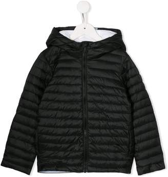 Emporio Armani Kids hooded quilted jacket