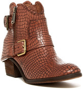 Donald J Pliner Dalis Buckle Ankle Embossed Leather Boot
