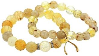 Dee Berkley Rutilated Quartz Good Luck Beaded Bracelet Set