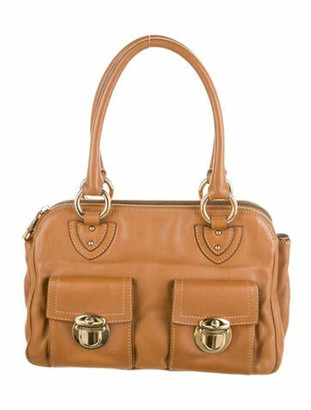 Marc Jacobs Leather Handle Bag Brown