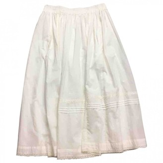Zadig & Voltaire Spring Summer 2019 White Cotton Skirt for Women