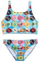 Terez Girls' Donut Print 2-Piece Swimsuit - Little Kid, Big Kid