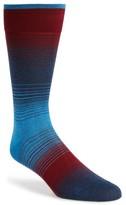 Bugatchi Men's 'Alternating Ombre' Stripe Socks