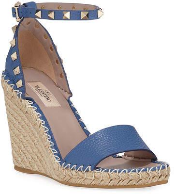 85283b0820d Rockstud Double Espadrille Wedge Sandals