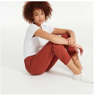 Joe Fresh Women's Woven Joggers, Dusty Red (Size 14)