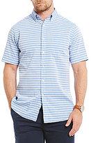 Daniel Cremieux Big & Tall Soho Slub Stripe Short-Sleeve Woven Shirt