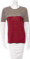 Akris Striped Cashmere Top