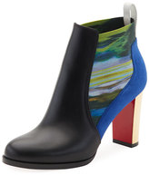 Christian Louboutin Marchapp Leather Red Sole Ankle Boot, Black