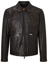 Hugo Boss Jacent Biker Jacket, Dark Brown