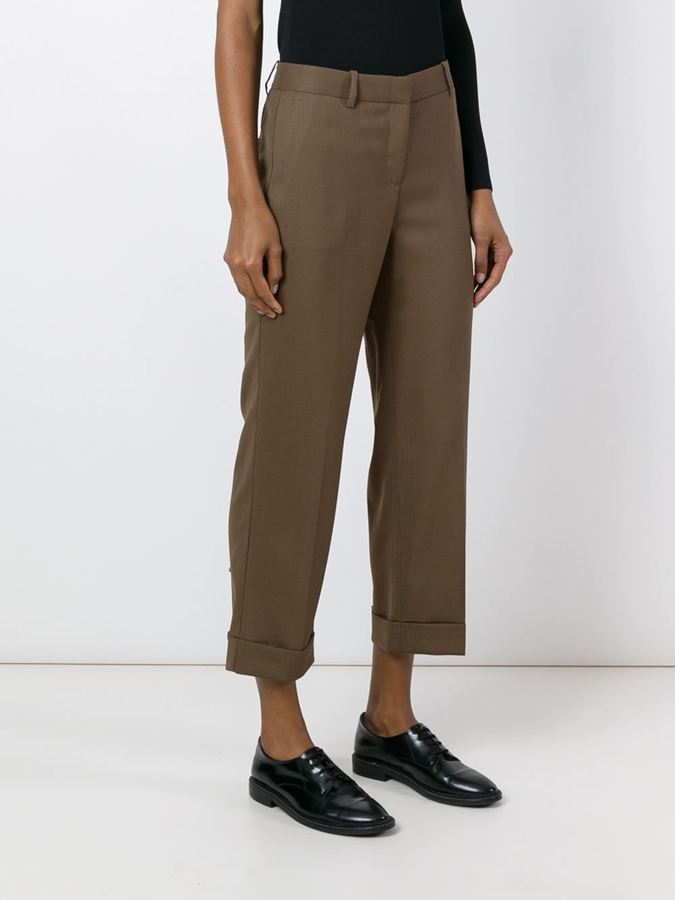 Theory 'Heze' cropped trousers