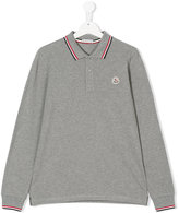 Moncler longsleeved polo shirt - kids - Cotton - 14 yrs