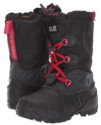 Jack Wolfskin Kids Iceland Waterproof High (Toddler/Little Kid/Big Kid) (Black/Red) Boys Shoes