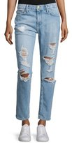 Current/Elliott The Fling Distressed Ankle Jeans, Bewitched Destroy