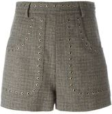 RED Valentino studded tweed shorts
