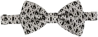 Dolce & Gabbana Logo Print Silk Bow Tie