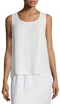 Lafayette 148 New York Sequined-Front Blouse