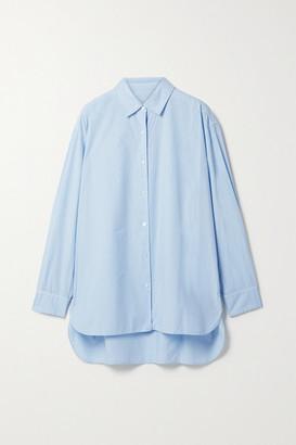 Nili Lotan Yorke Cotton Shirt - Light blue