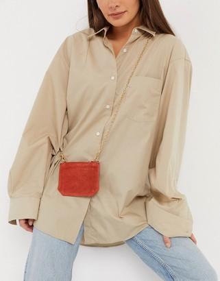 Urban Code Urbancode small leather cross-body purse bag in rust