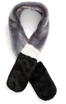 Leith Women's Stripe Faux Fur Stole