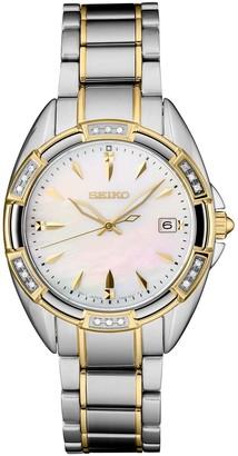 Seiko Women's Diamond Accent Two Tone Watch - SKK880